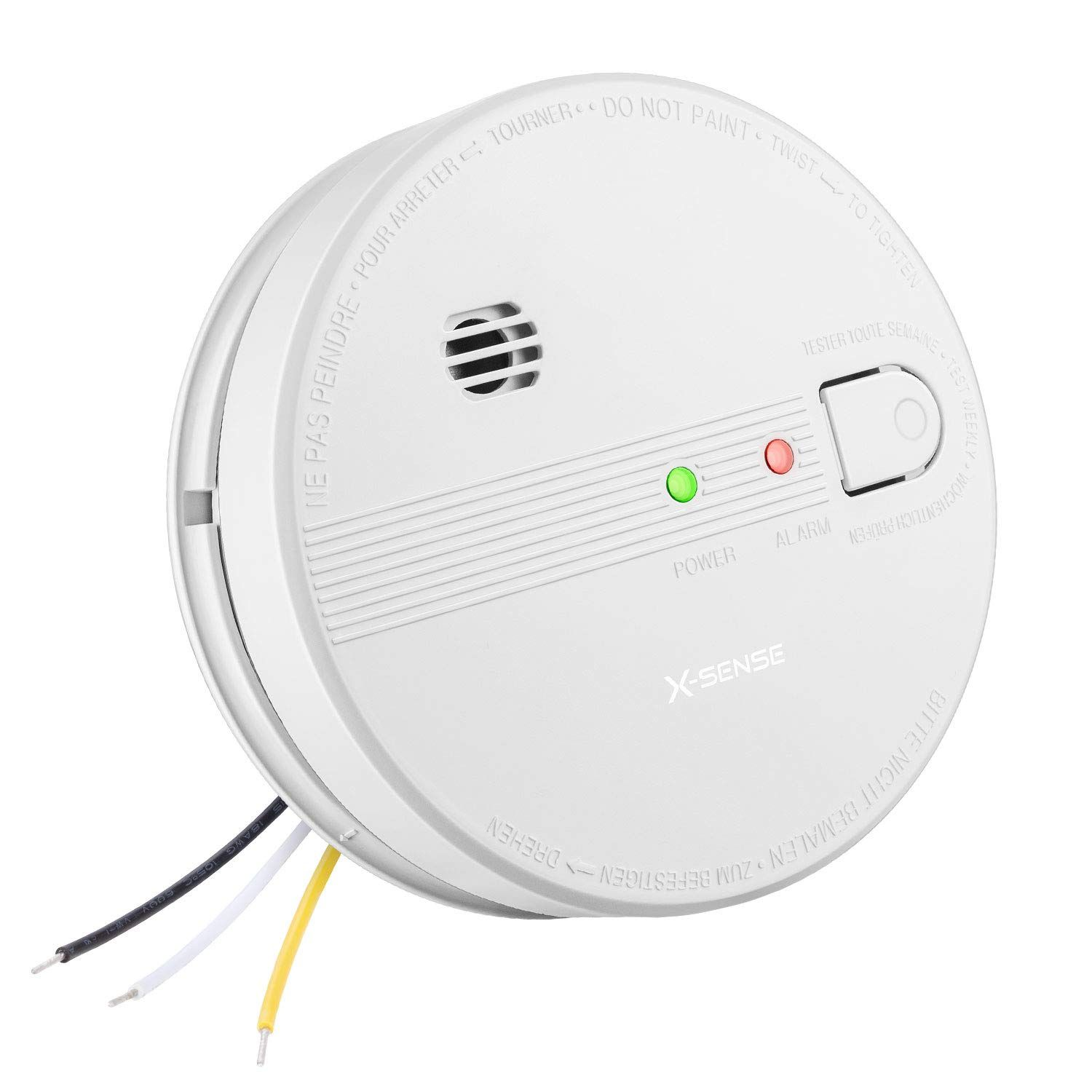 X Sense Sd21 10 Year Smoke Detector Ul Listed Interconnected Fire Alarm With Battery Backup And Photoelectric S Photoelectric Sensor Fire Alarm Battery Backup