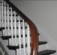 Best How To Refinish A White Oak Wood Banister Banisters 400 x 300