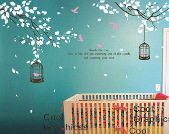 Wall Decal Branch Wall Decal Nursery Wall Decal Children Decal Girl Boy  Room Vinyl Wall Decal