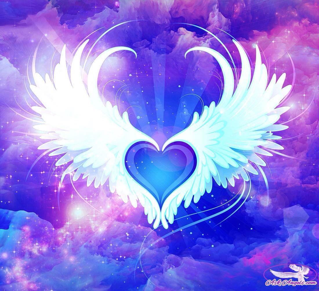 Purple Heart wings   Heart wings   Heart, Heart with wings ...