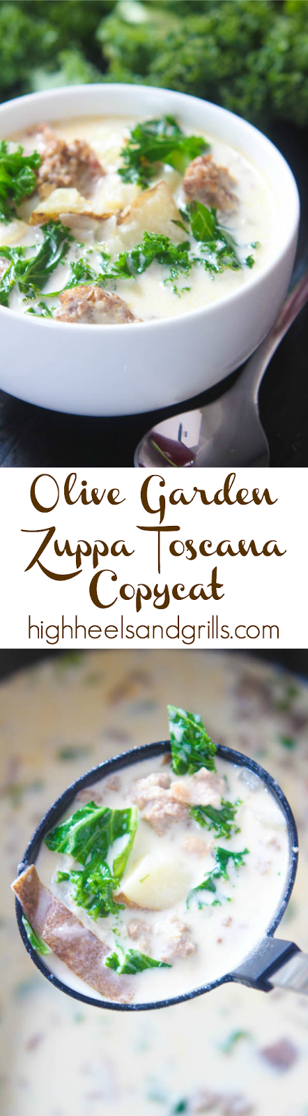 Olive Garden Zuppa Toscana High Heels And Grills Recipe Easy Soup Recipes Easy Soups Delicious Soup