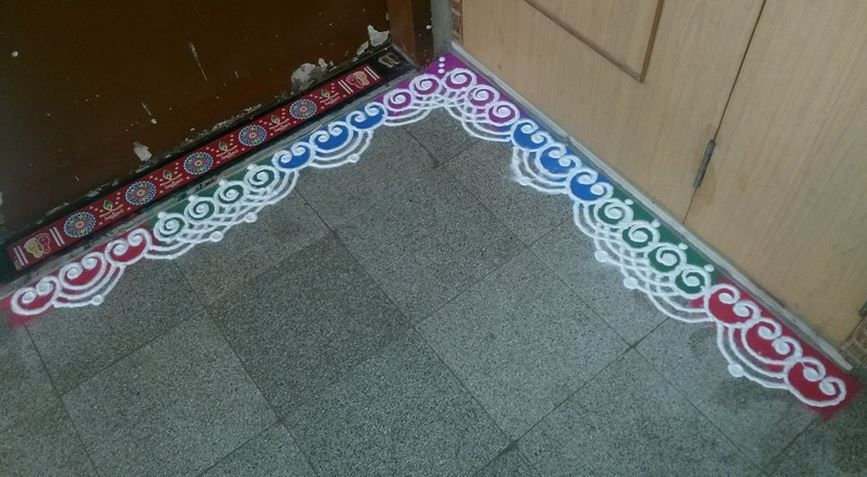 border rangoli designs for doors rangoli pinterest