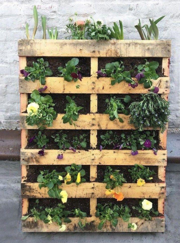 Affordable But Cool Diy Garden Ideas With Pallet On A Budget 37 Pallet Garden Pallets Garden Vertical Garden