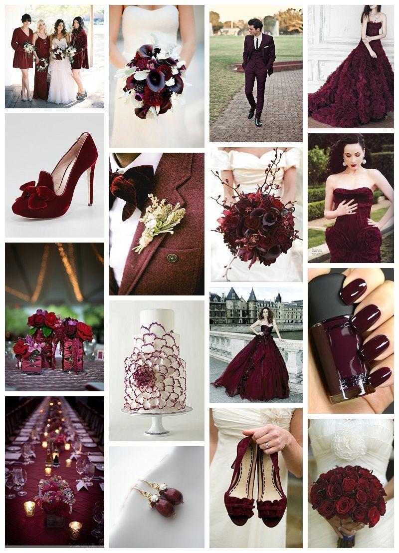 Burgund Wedding Decor Inspiration Hochzeitsfarben Farbthema Fur Die Hochzeit Bright And Rich Wedding Colors Maroon Wedding Burgandy Wedding Wedding Colors