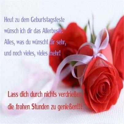 Pin Von Hase Auf Geburtstag Alles Gute Geburtstag Rosen Zitate