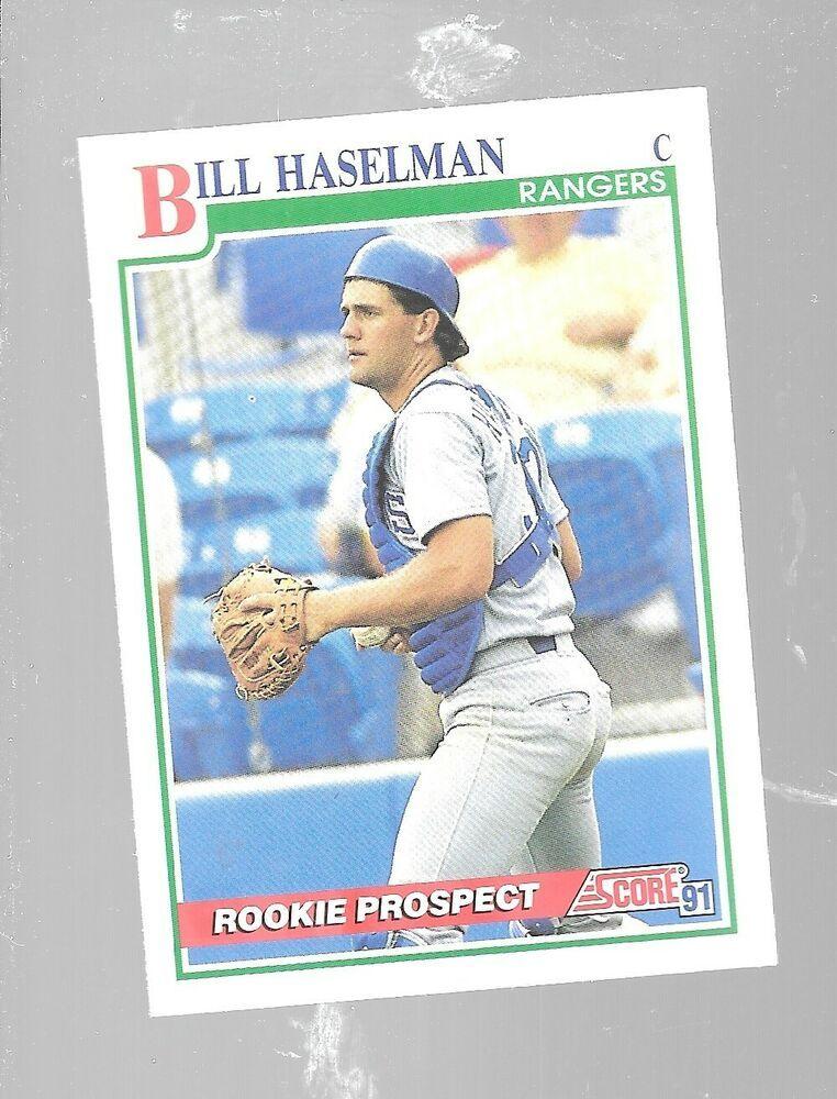 1991 score bill haselman 377 rookie prospect texas rangers