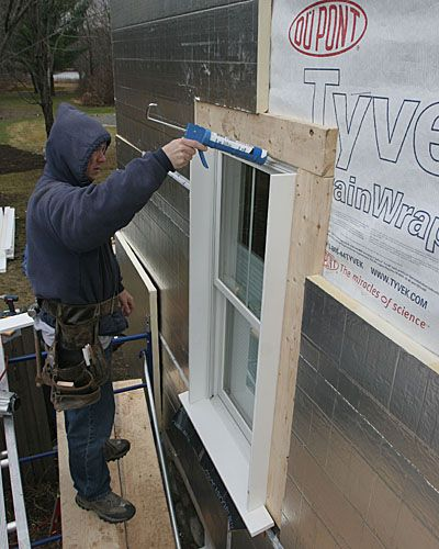 trim a window with exterior foam insulation - Google Search