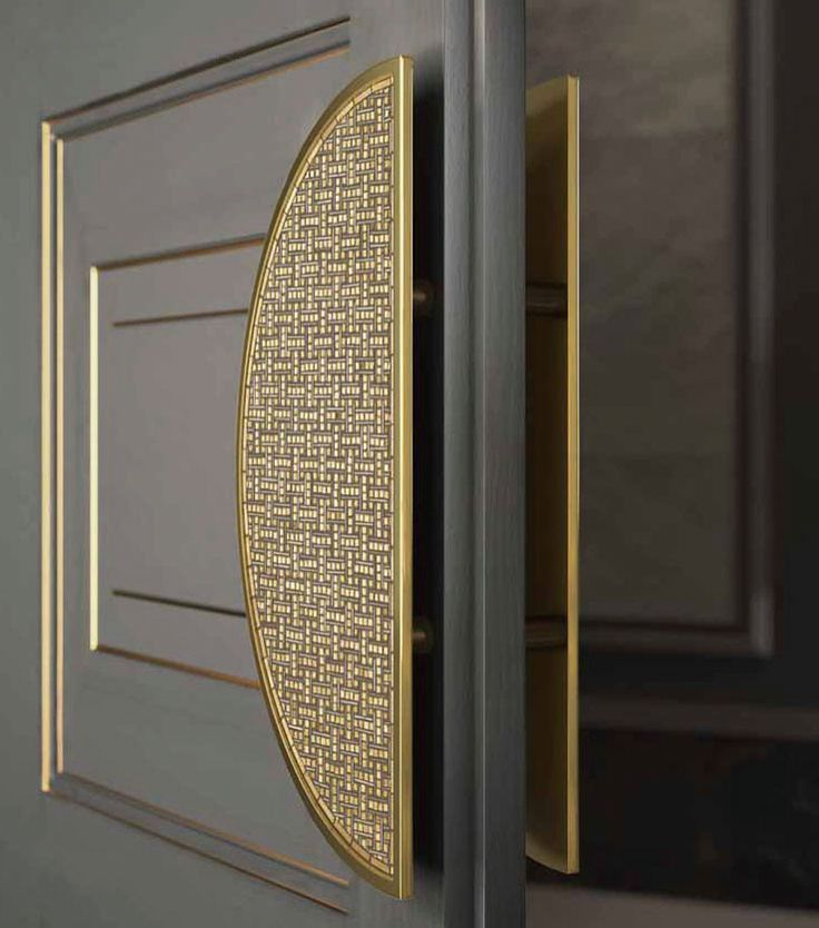 sicis door handle gold tones door panels gray grey