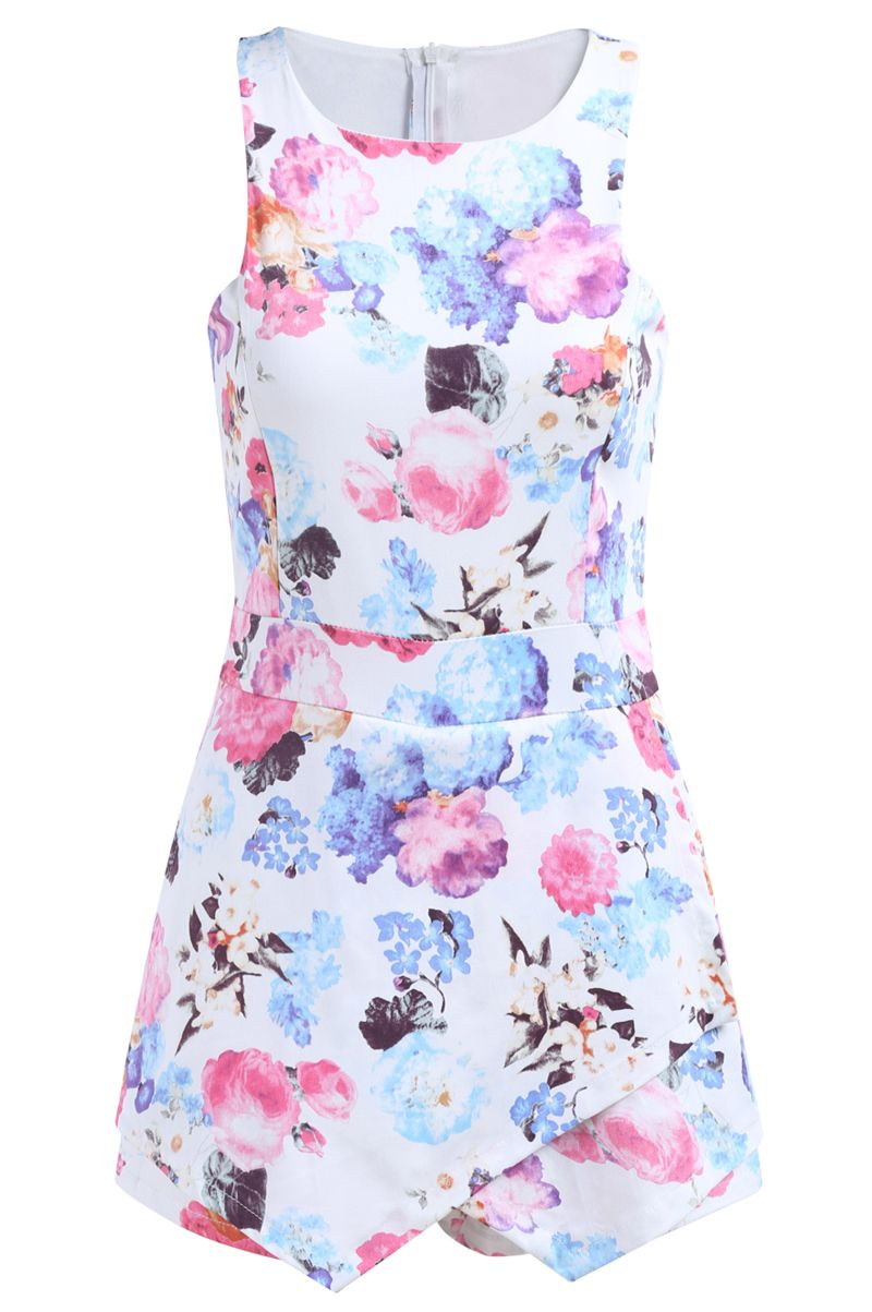 Sleeveless Floral Bodycon White Dress 23.35
