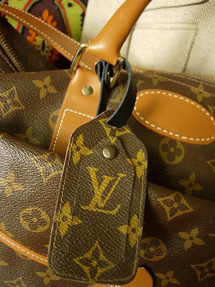 4a96bf165222 RARE Vintage LOUIS VUITTON Luggage Tag Carry on Speedy Keepall Tote  Accessory  LouisVuitton  LuggageTag