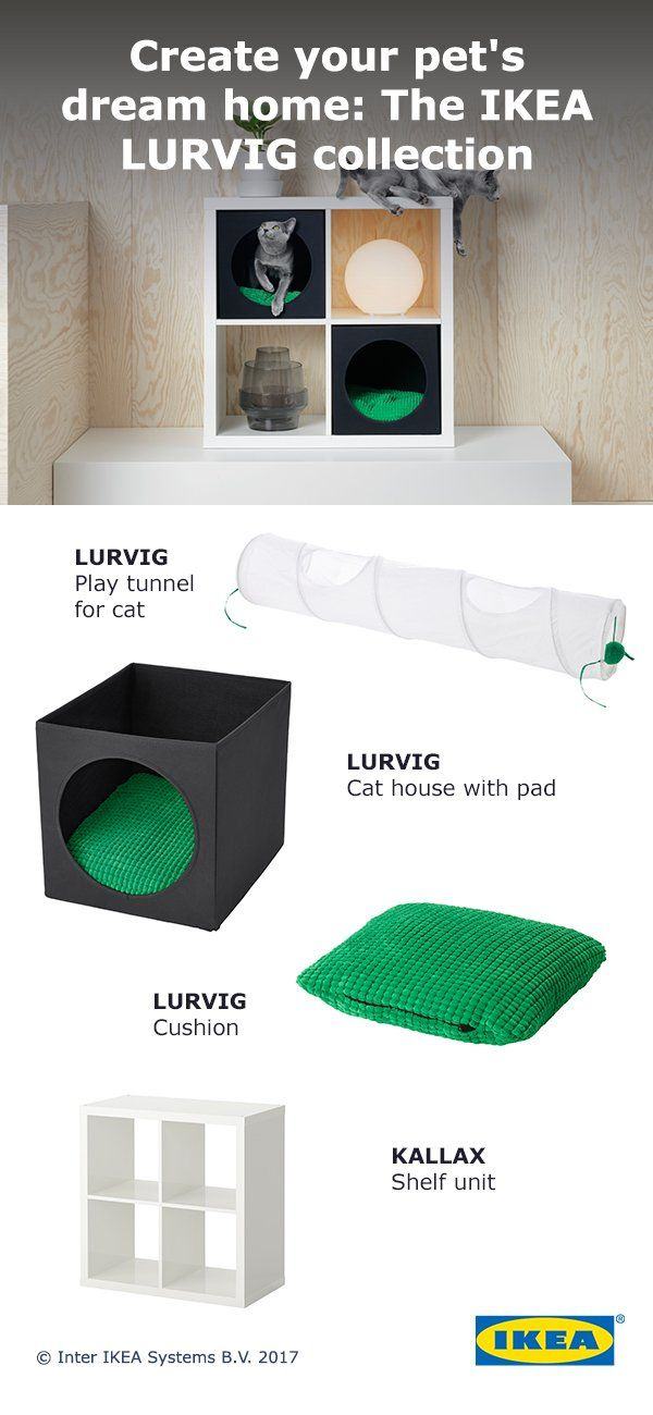 keep your cat cozy and comfortable with the new ikea lurvig collection our pet essentials. Black Bedroom Furniture Sets. Home Design Ideas