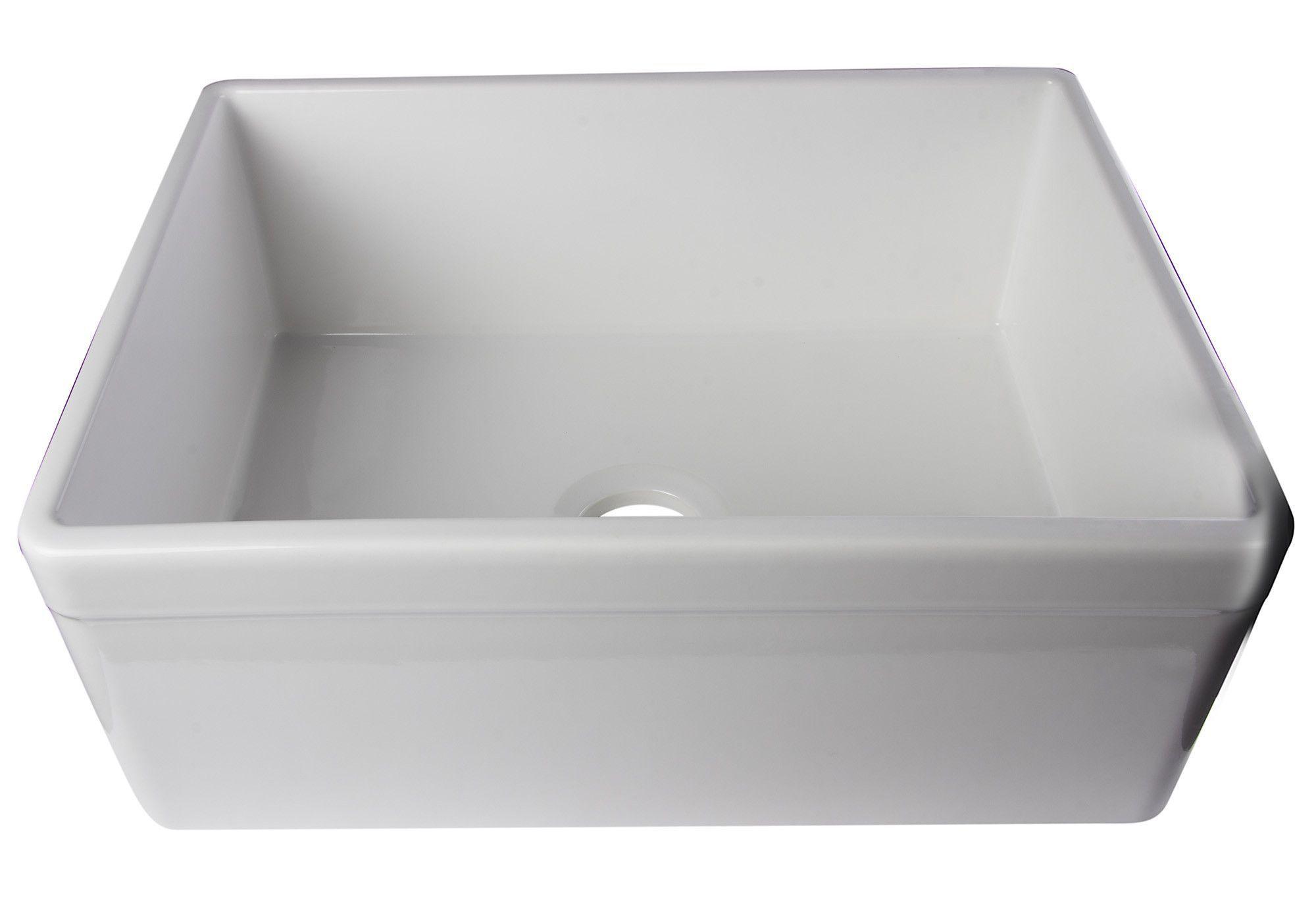 Alfi brand ab506w white 26 decorative lip single bowl