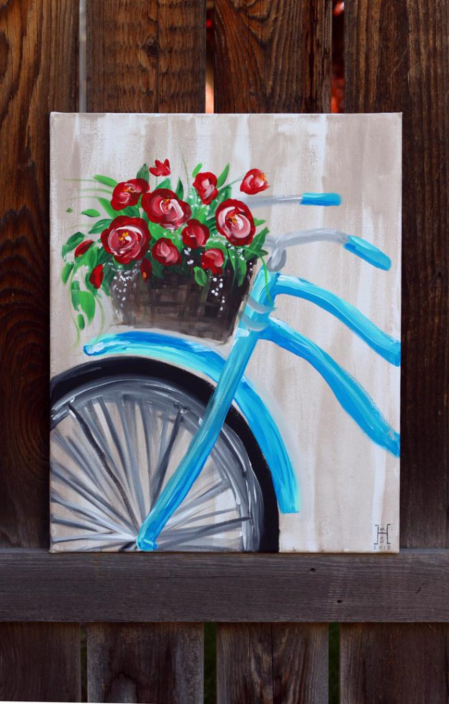 Beautiful Bicycle Painting - Think Crafts by CreateForLess