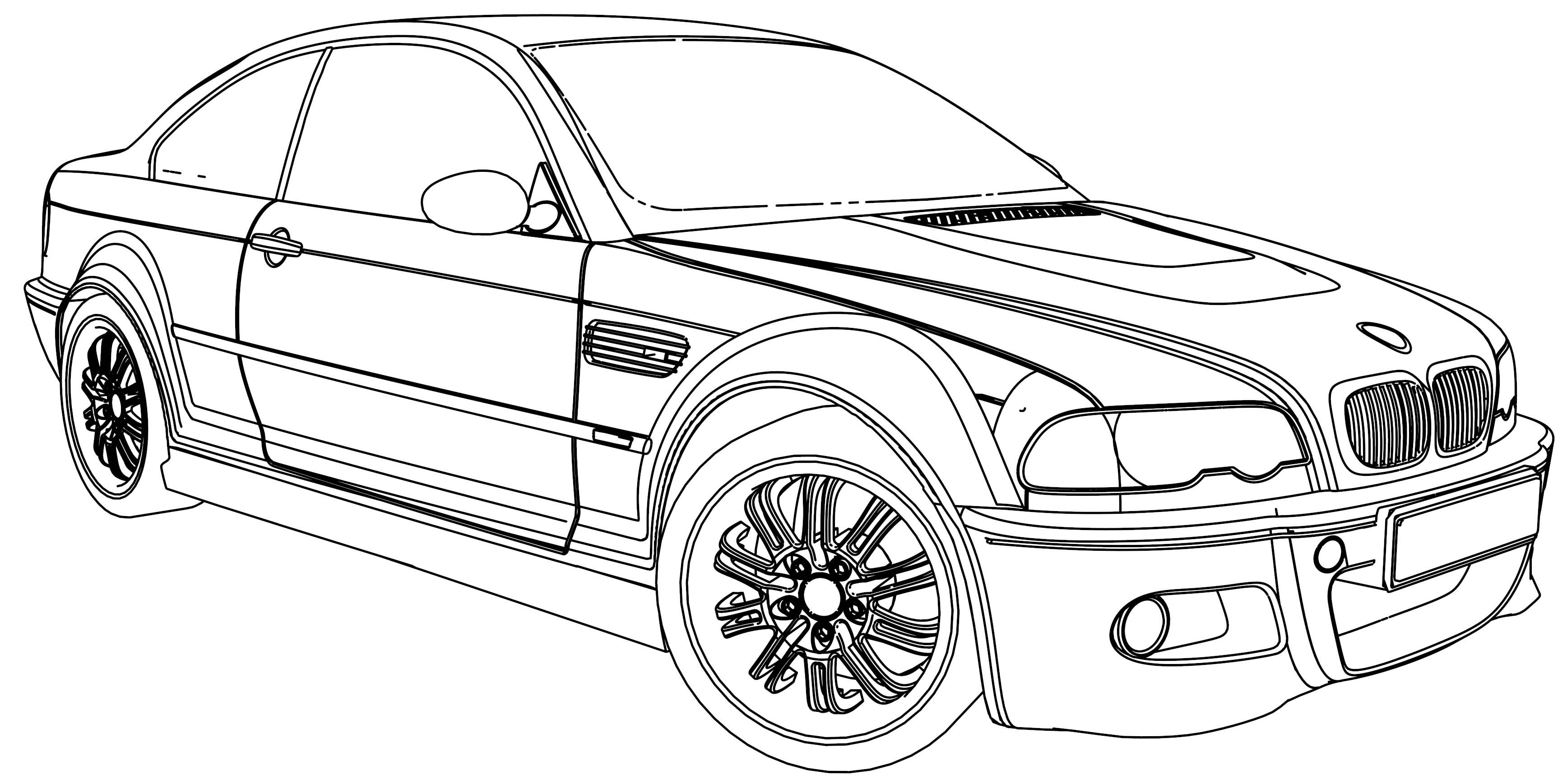 Nice Bmw M5 Car Coloring Page