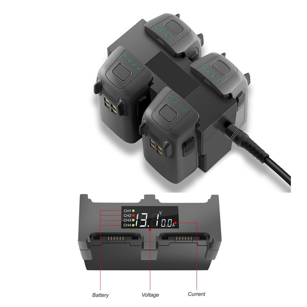 4 in1 Charging Hub AC Fast Charger For DJI Spark Drone