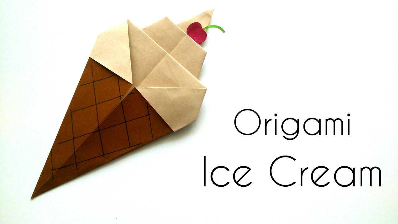 Origami ice cream cone origami for kids paper ice cream cone origami ice cream cone origami for kids paper ice cream cone jeuxipadfo Gallery