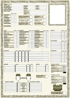 rpg sheets | Rpg character sheet page 1 by marhadris | D&D in 2019