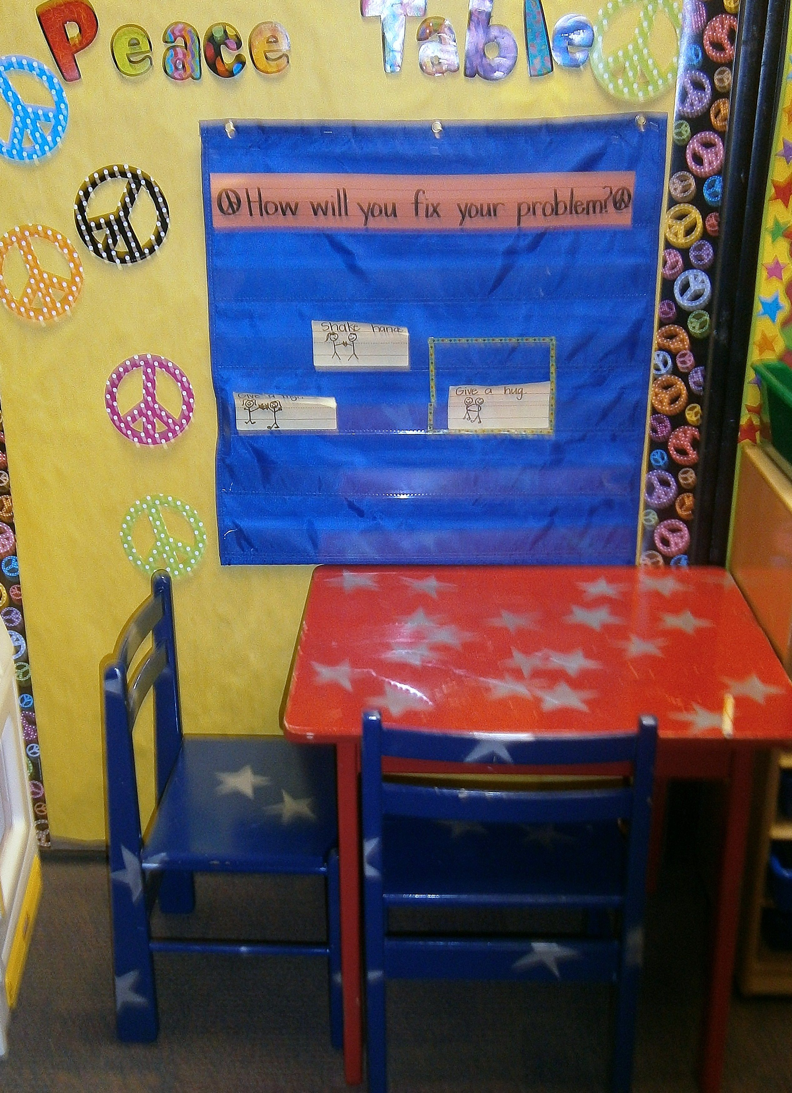 Peace Table Students Go Here To Work Out Their Problems