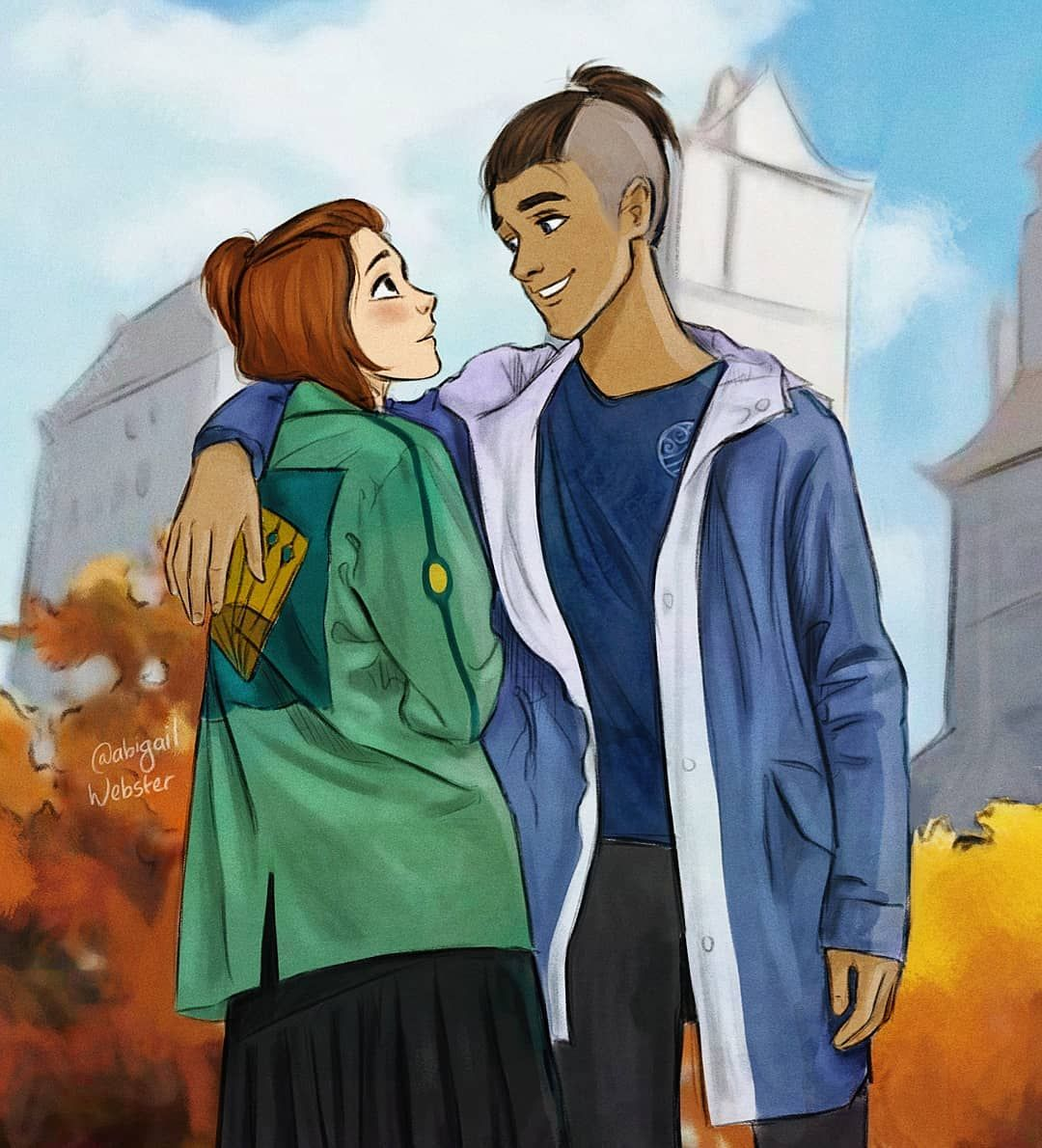 Abbey On Instagram Modern Day Sokka And Suki I Kinda Want Her Jacket After Drawing This Who In 2020 Avatar Cartoon Avatar The Last Airbender Art The Last Avatar