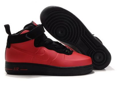 Nike Air Force 1 Foamposite Red Black #Red #Womens #Sneakers