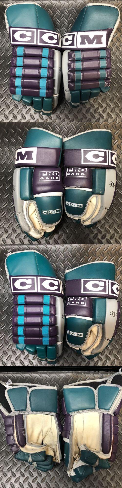 eb57f4e01b9 Gloves 20853  Pro Stock Ccm Hockey Gloves Mighty Ducks Of Anaheim Mismatch  -  BUY