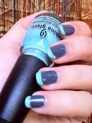Funky  french Tiffany & Grey