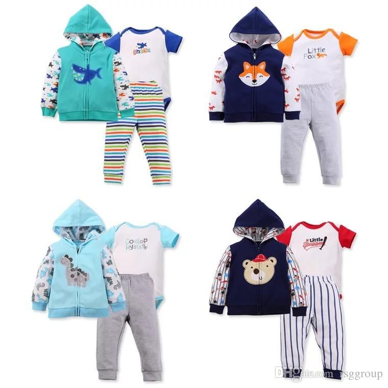 145697b6e 2019 Children Girls Hoodies Coat High Quality Cotton Boys Rompers ...