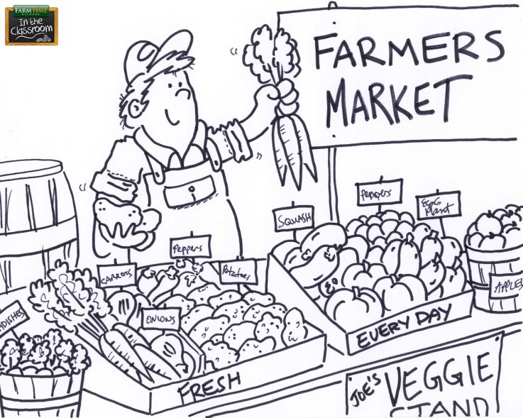 coloring pages farmers - photo#30