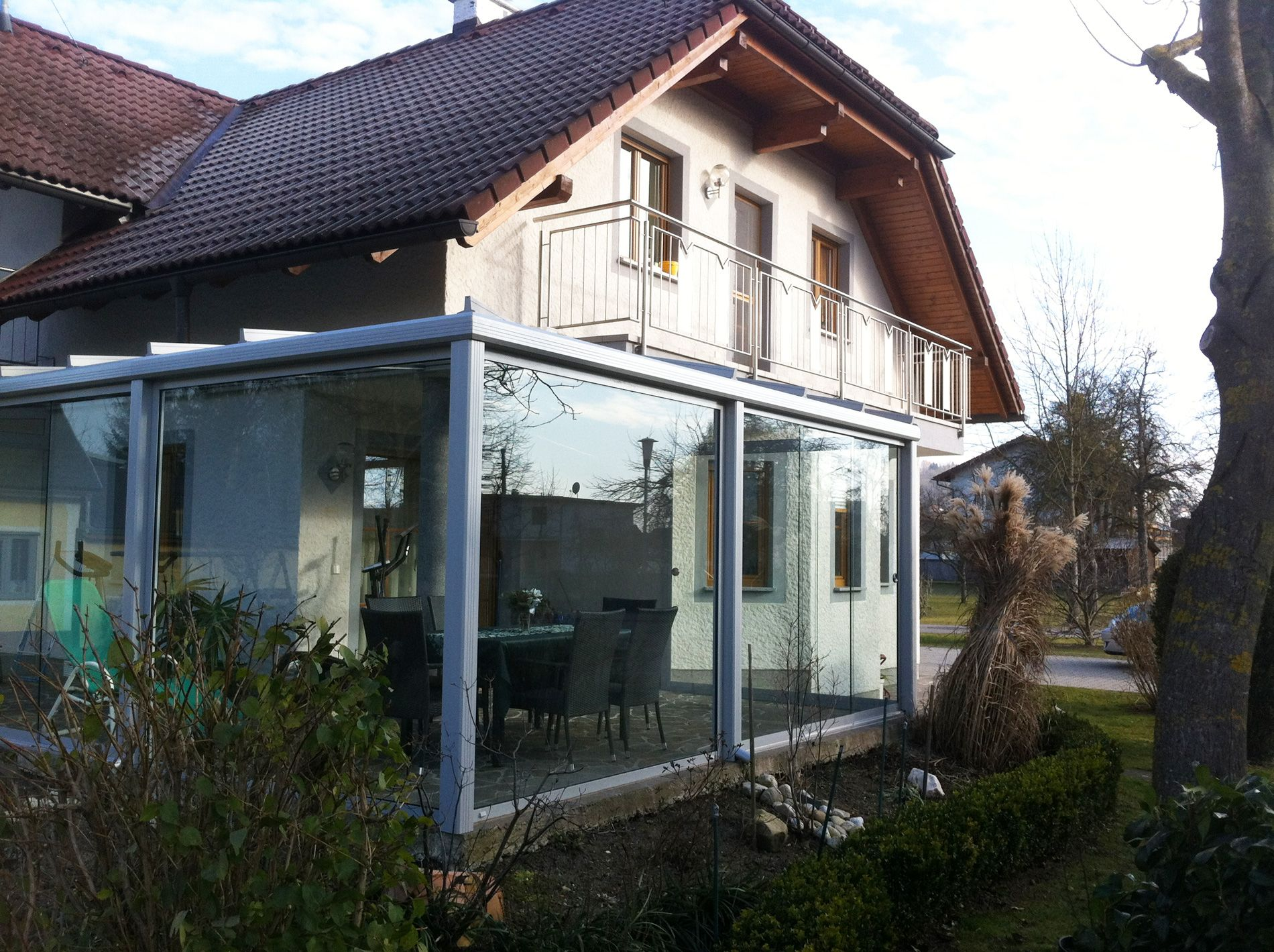 Top Wintergarten mit Balkon darüber | Verglasungen // Balkon, Terrasse PN51