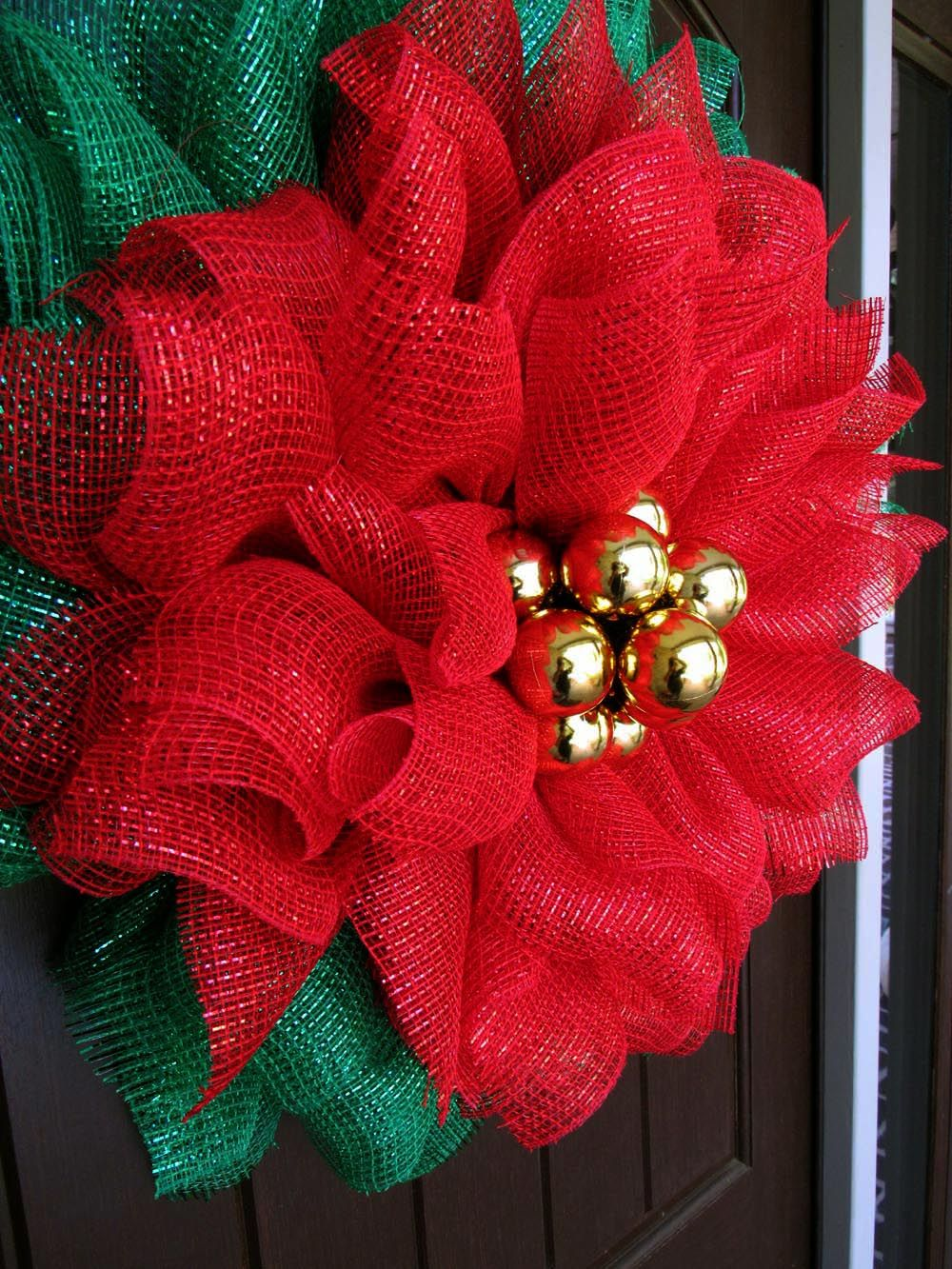 Poinsettia Mesh Wreath Tutorial Christmas mesh wreaths