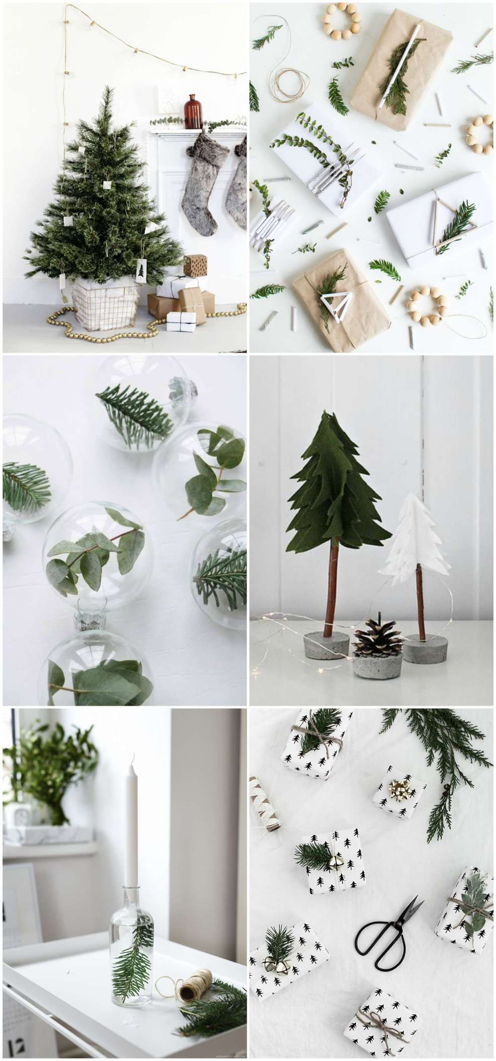 A round up of the most beautiful modern Christmas DIY projects.