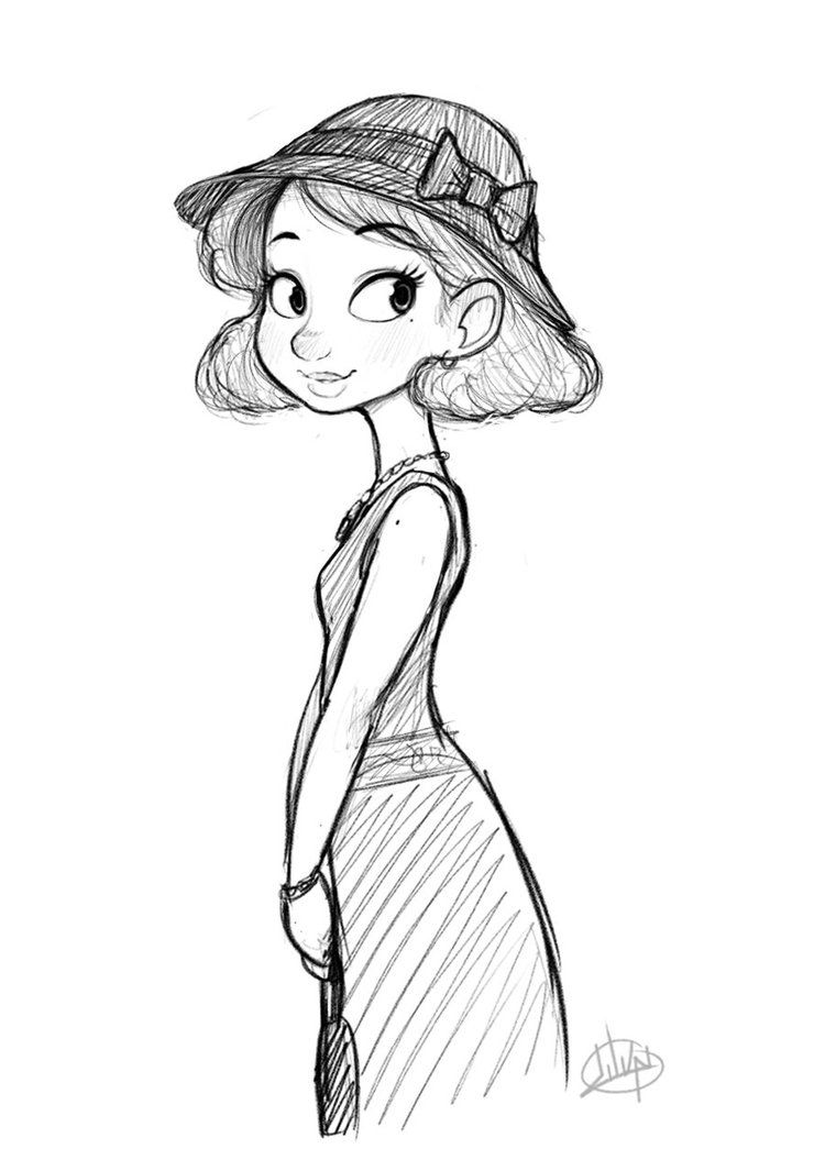 Monday Dress By Luigil On Deviantart Cartoon Expression