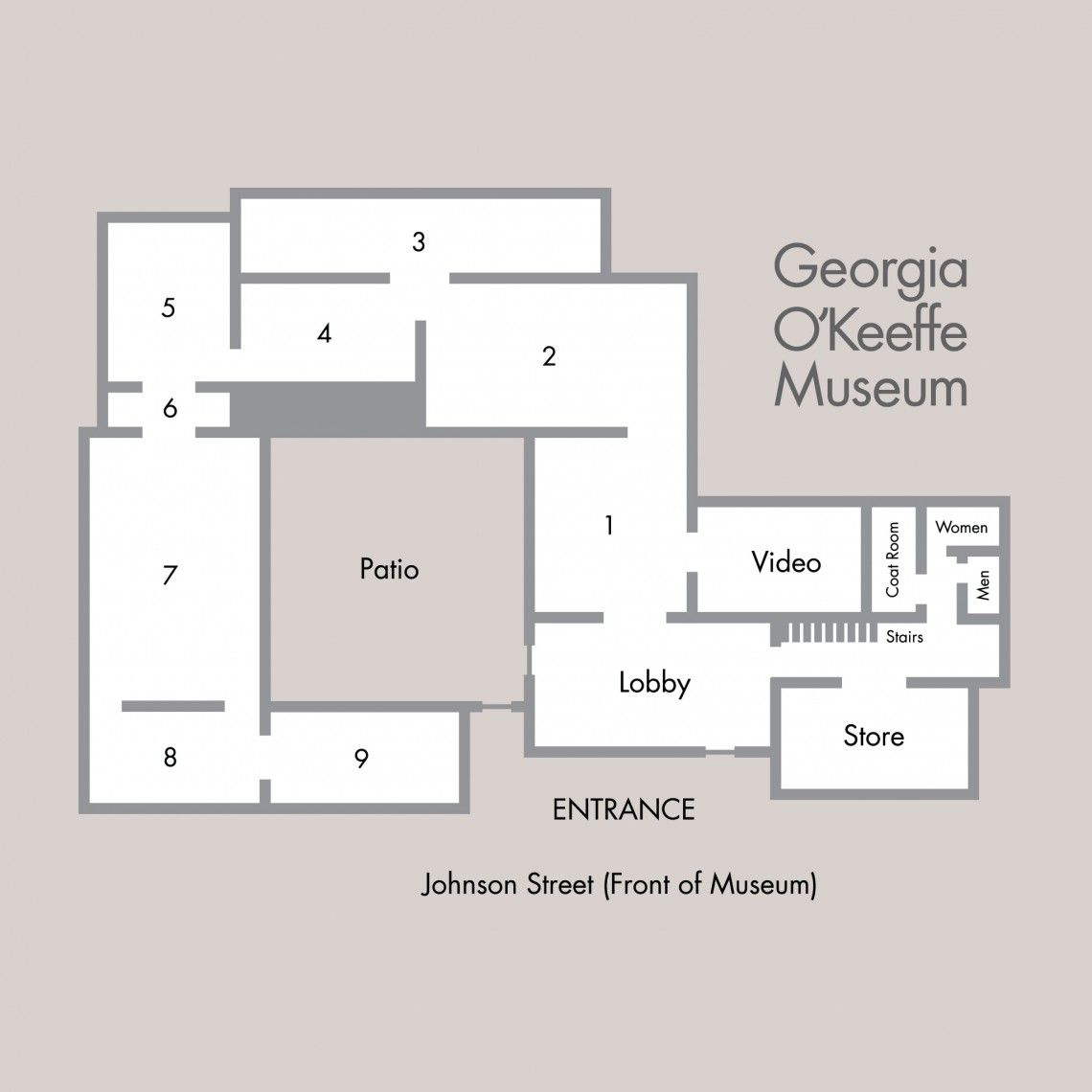 Georgia O Keeffe Museum Santa Fe Library Floor Plan Museum Flooring How To Plan