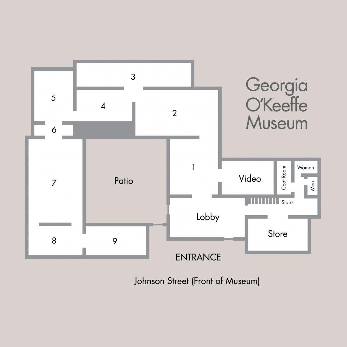 Georgia O Keeffe Museum Santa Fe Library Floor Plan Museum Flooring How To Plan