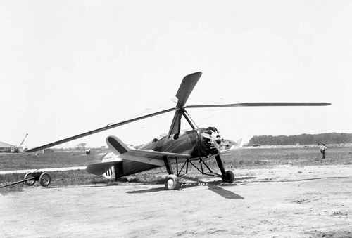 Looking like the bastard child of a helicopter and a prop plane, the PCA-2 autogiro was Pitcairn's first rotary wing aircraft to achieve type certification (basically approved airworthiness) in America.