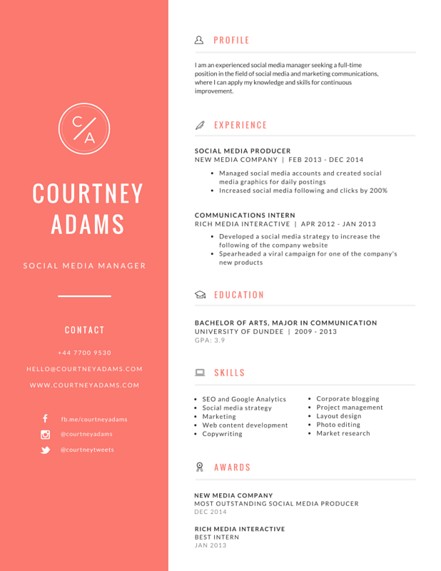 canva resume templates