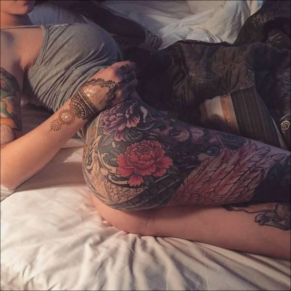 Tattoos on girls ass