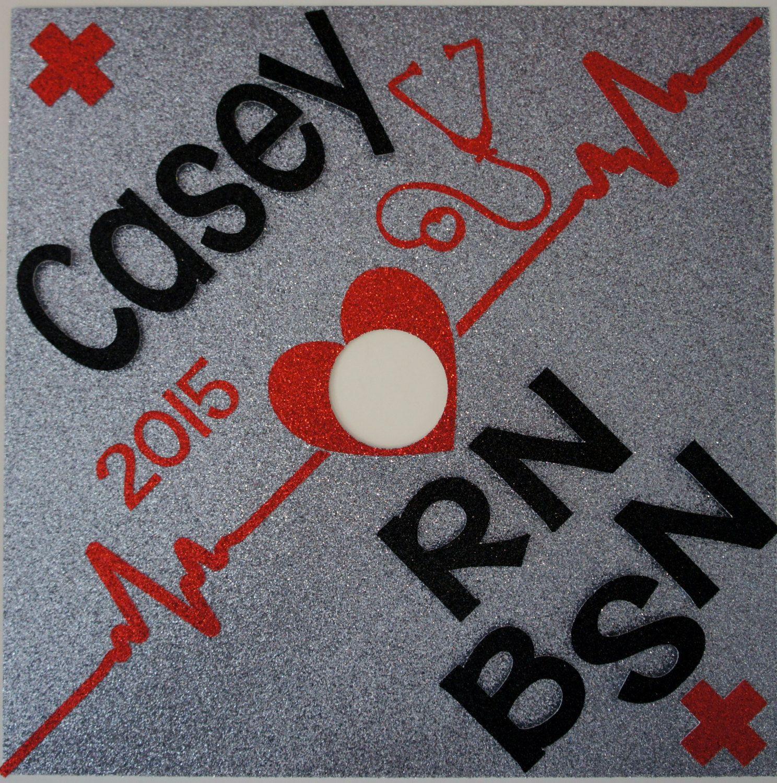 Custom BSN Nurse Graduation Cap Topper! Customize The