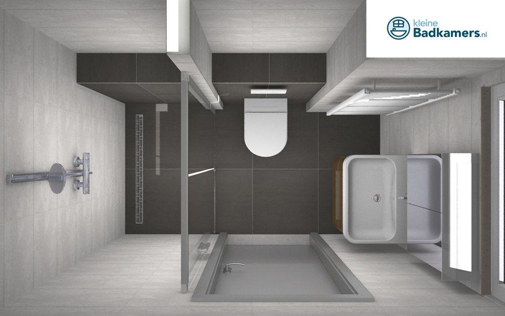 Deze badkamer heeft een afmeting van 2 34 x 1 40 meter. een compacte