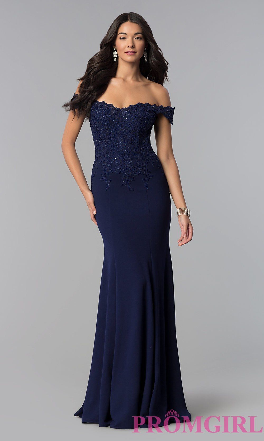2a32d6e2a61d Image of sweetheart off-the-shoulder long prom dress with lace. Style   DQ-2358 Detail Image 3