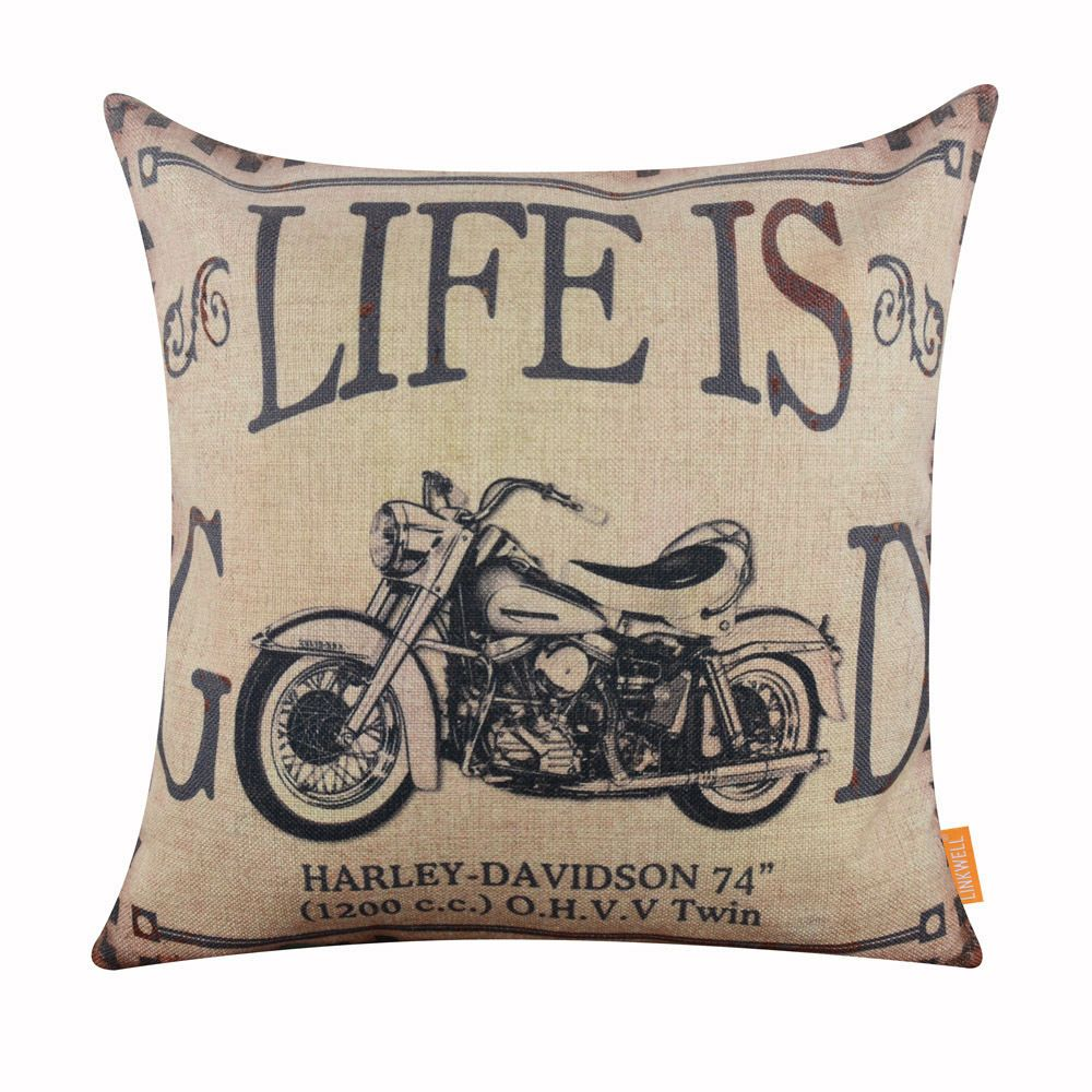 "18/"" Vintage//Retro Coffee Cup Pillowcases Home Décor Cotton Linen Cushion Cover"