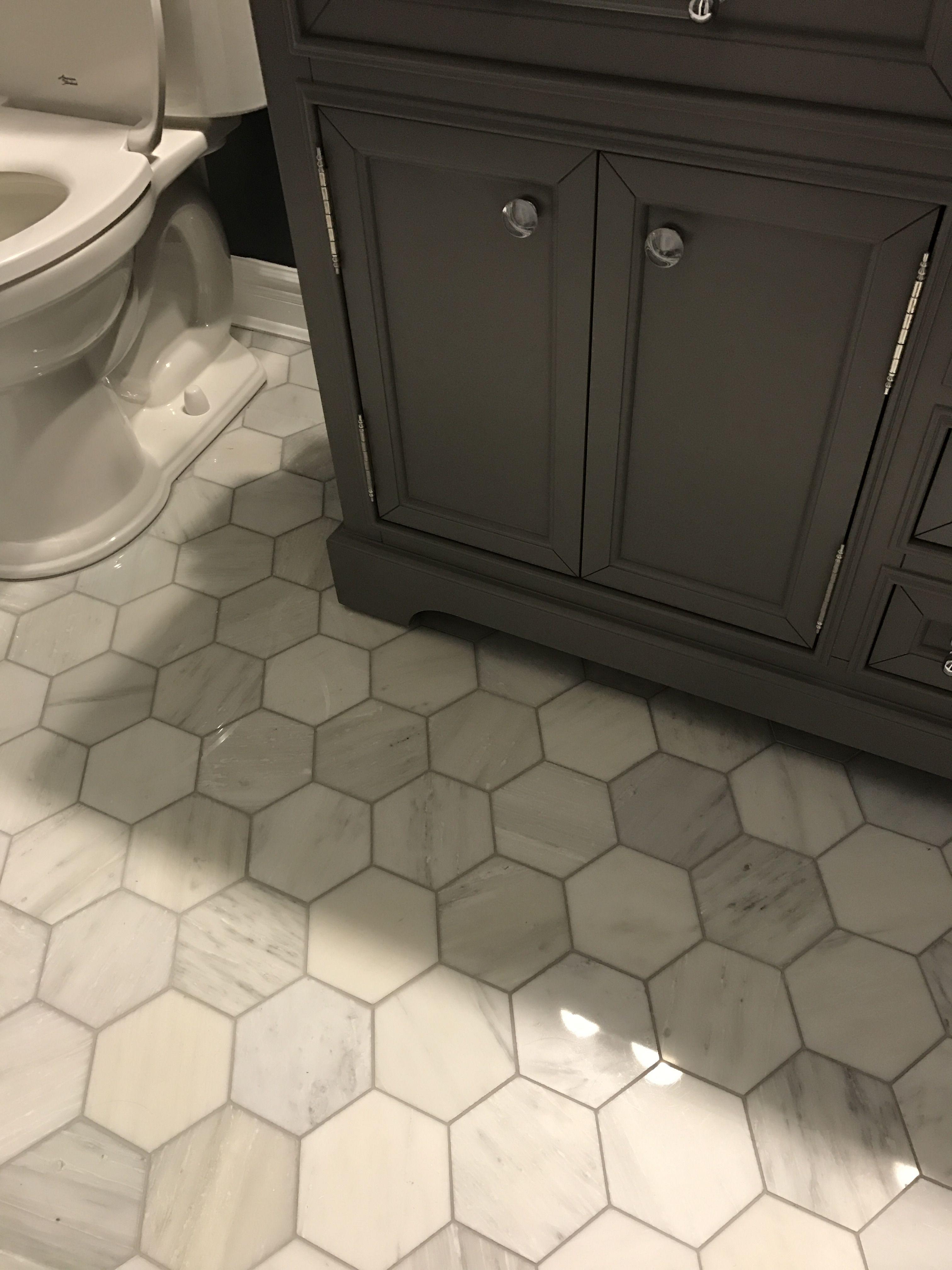 Hexagon Floor Tile Bathroom Remodel