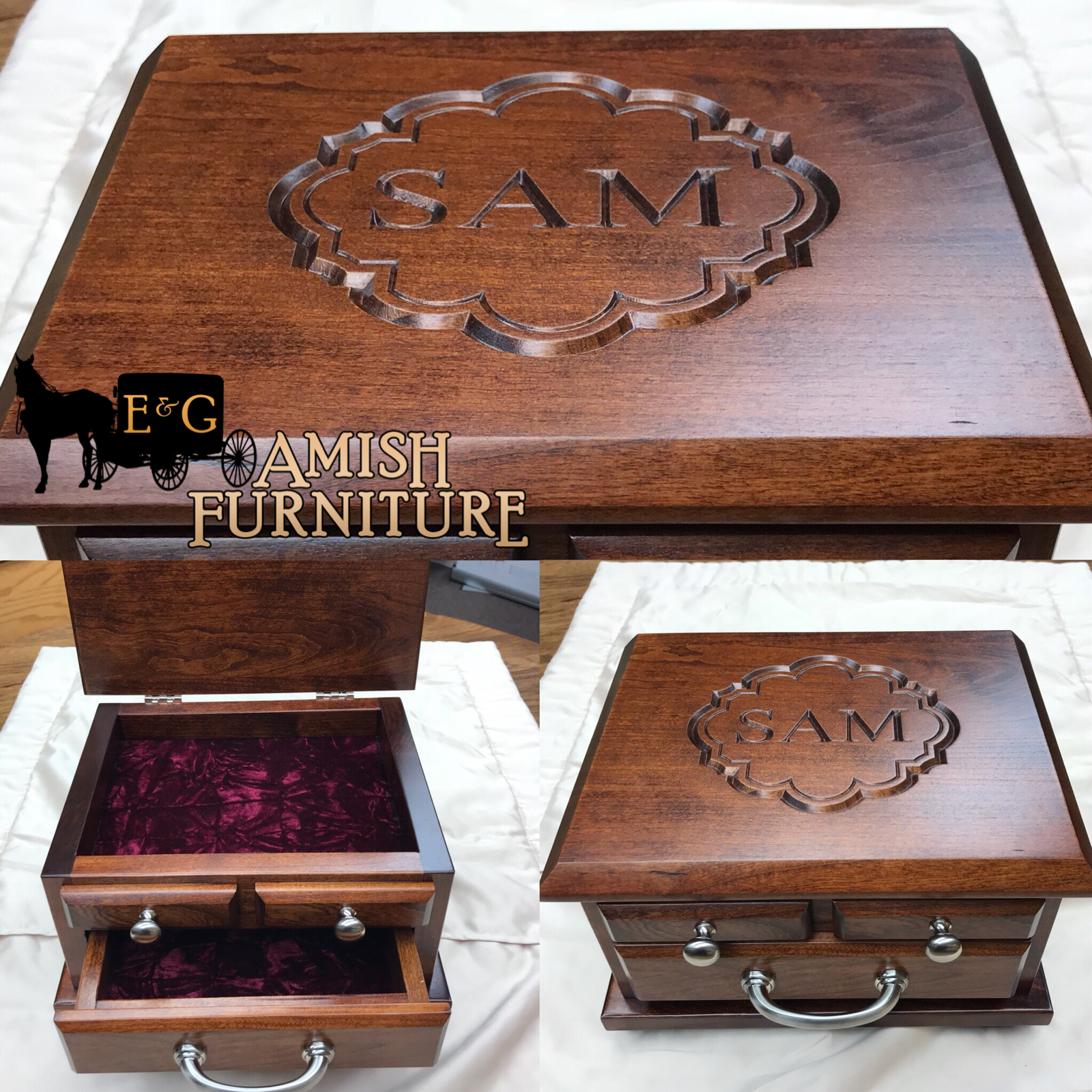 Create The Perfect Gift For Any Occasion This Custom Men S Dresser Top Jewelry Box Was Made For A New College Amish Furniture Houston Furniture Timeless Gifts