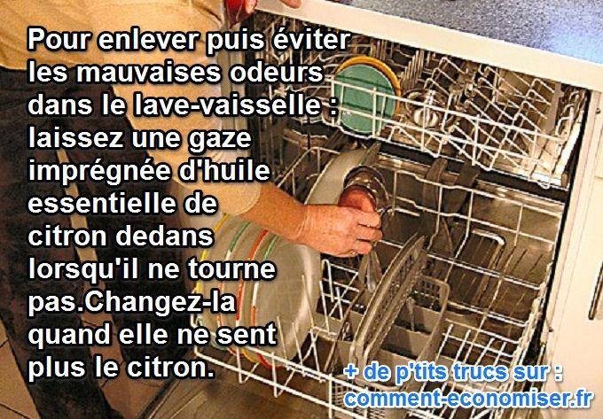 L Astuce Anti Odeurs Dans Le Lave Vaisselle Lave Vaisselle Odeur Vaisselle