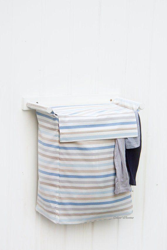 Wall Laundry Hamper Nursery Storage Bin Baby Basket Bag