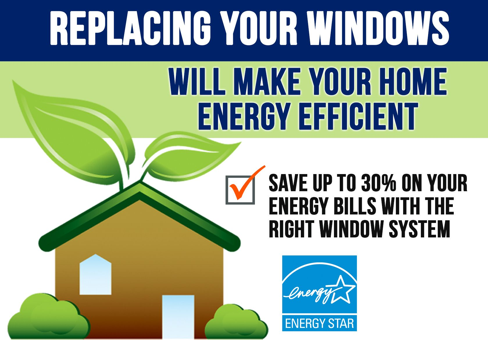 Replacement windows can help make your home energy for Types of energy efficient windows