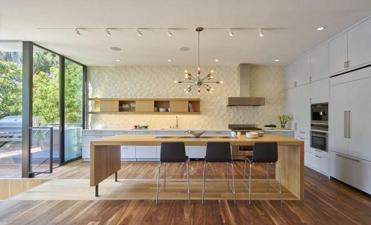 cocina moderna diseñada por Schwartz and Architecture