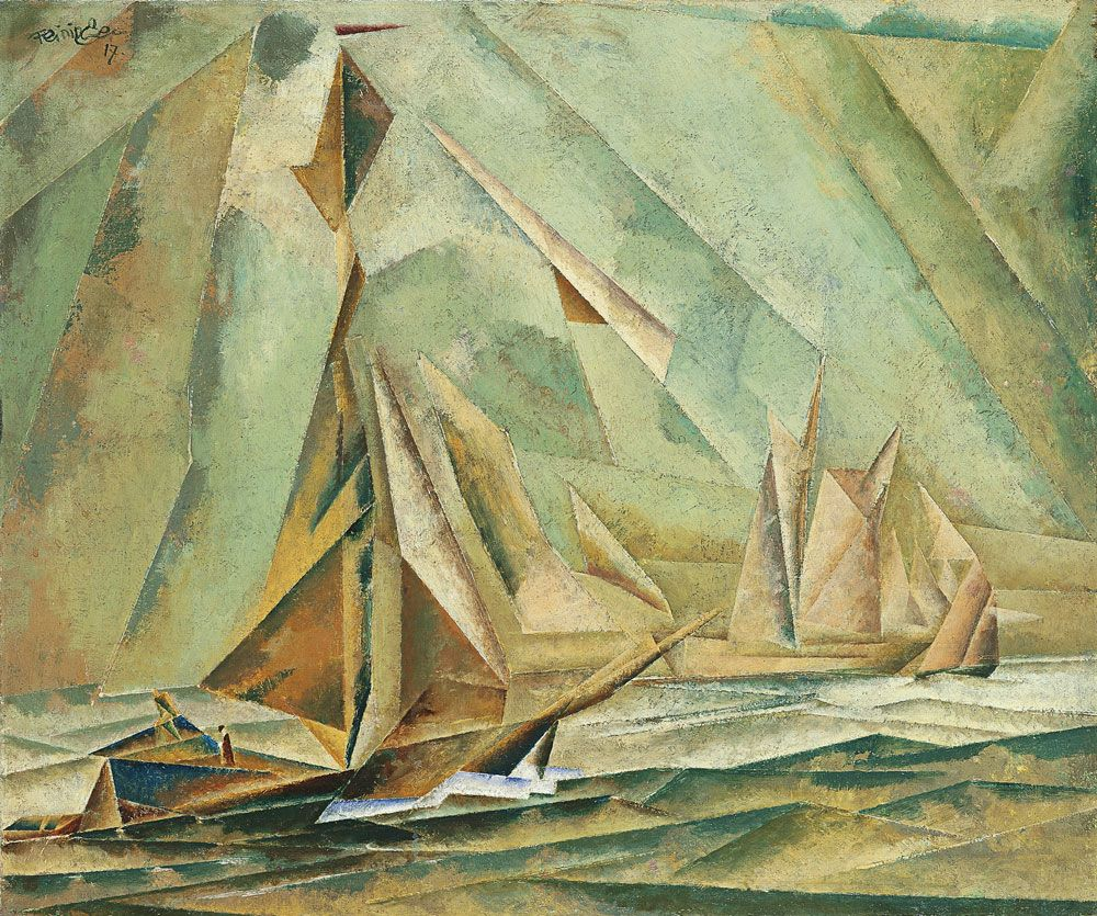Lyonel Feininger:  Ships (1917)