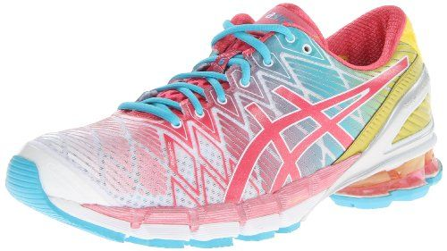 ASICS 15068 - Chaussure de - course pied à pied Gel Kinsei 5 pour femme - Blanc/ Rose/ Jaune - 9 M US a9715e0 - artisbugil.website