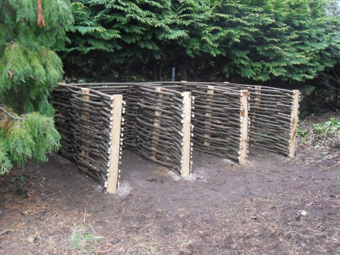 Geweldige compostbak natuurlijke materialen groentetuin pinterest natuurlijke materialen - Terras schuilplaats ...